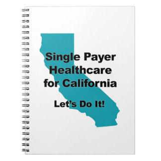 Caderno Espiral Únicos cuidados médicos do pagador para Califórnia