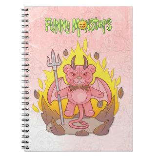 Caderno Espiral urso de ursinho do demónio