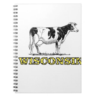 Caderno Espiral Vaca de leiteria de Wisconsin
