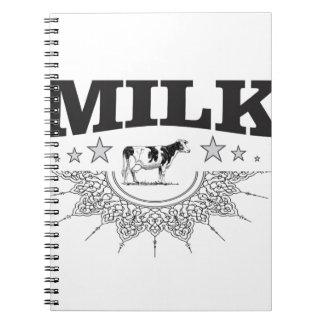 Caderno Espiral Vaca do preto do leite da estrela