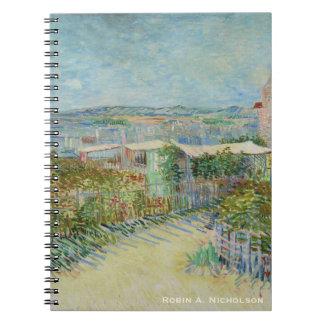 Caderno Espiral Van Gogh Montmartre personalizado