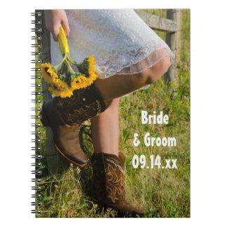 Caderno Espiral Vaqueira e casamento ocidental do país dos