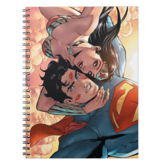 Caderno Espiral Variação cómica do cobrir #11 do superman/mulher
