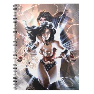 Caderno Espiral Variação cómica do cobrir #609 da mulher maravilha