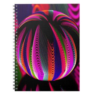 Caderno Espiral Variação das cores no vidro