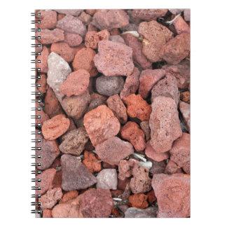 Caderno Espiral Vegetação rasteira vermelha das rochas vulcânicas