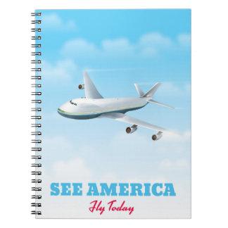 Caderno Espiral Veja América - mosca hoje!