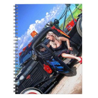 Caderno Espiral Velocidades que rebocam o Pin do caminhão de Rod