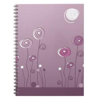 Caderno Espiral Verão roxo