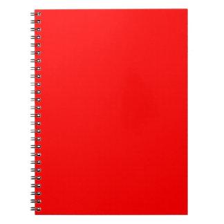 Caderno Espiral Vermelho brilhante colorido da Web do código do