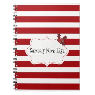 Caderno Espiral Vermelho e White Christmas mágicos