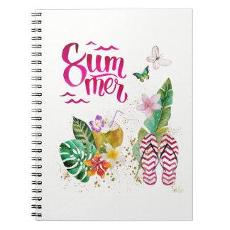Caderno Espiral Verões, férias, praia. Aloha Havai