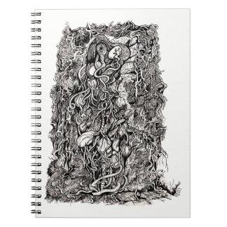 Caderno Espiral Vida sem pele por Brian Benson