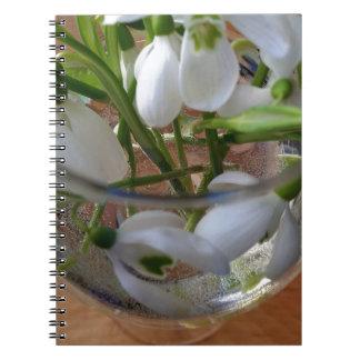 Caderno Espiral vidro dos snowdrops