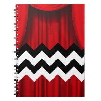 Caderno Espiral viga preta do alojamento
