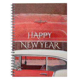 Caderno Espiral Vintage branco vermelho de Dodge do Bel Air