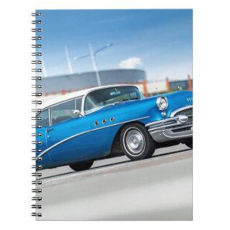 Caderno Espiral Vintage clássico azul do carro velho do Special