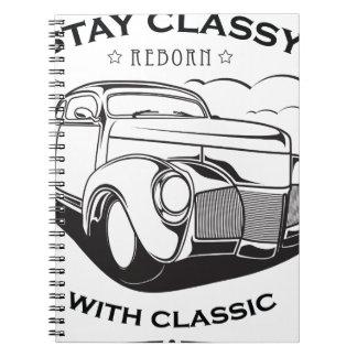 Caderno Espiral Vintage retro do carro clássico