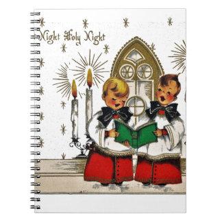 Caderno Espiral vintage-santa-christmas-post-cards-0029