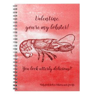 Caderno Espiral Você é meus namorados impertinentes da lagosta