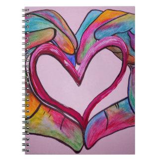 Caderno Espiral Você guardara meu coração em suas mãos