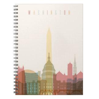 Caderno Espiral Washington, skyline da cidade da C.C. |