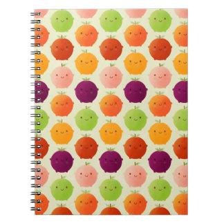 Caderno Espiral Watercolours frutados de Cutie