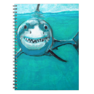 """Caderno Espiral """"Wayne"""" o grande tubarão branco"""