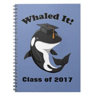 Caderno Espiral Whaled ele classe de 2017 baleias de assassino