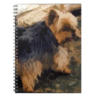 Caderno Espiral Yorkie pequeno bonito   - cão do yorkshire terrier