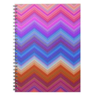 Caderno Espiral ziguezague, colorido, engraçado