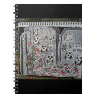 Caderno Espiral Zombi do cemitério