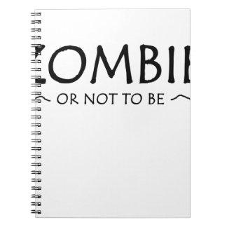 Caderno Espiral Zombi ou para não ser