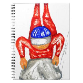 Caderno Esporte Watercolor2 do trenó