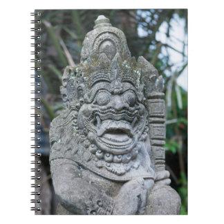 Caderno Estátua do deus do Balinese