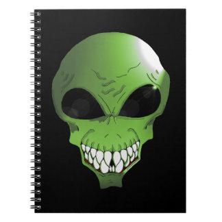 Caderno estrangeiro verde da foto (80 páginas B&W)