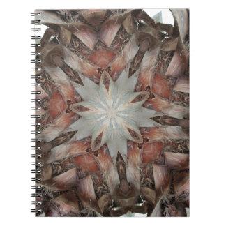 Caderno Estrela do design do caleidoscópio do tronco da