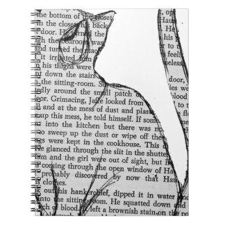 Caderno etiqueta do livro de leitura do gato
