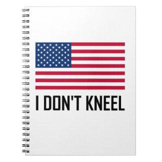 Caderno Eu não me ajoelho hino nacional de bandeira