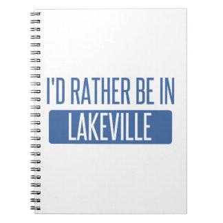 Caderno Eu preferencialmente estaria em Lakeville