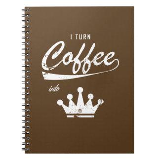 Caderno Eu transformo o café em KOMs