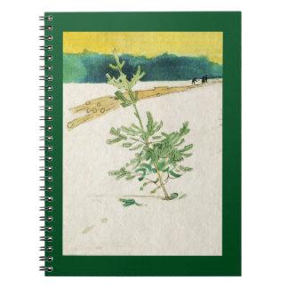Caderno Evergreen na neve