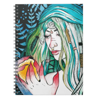 Caderno Evergreen - retrato da aguarela