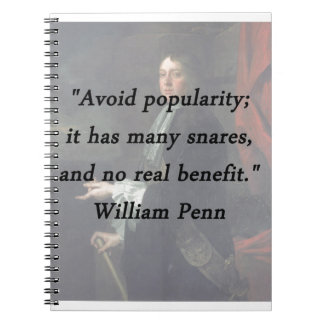 Caderno Evite a popularidade - William Penn