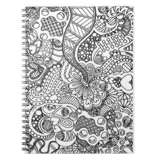 Caderno Faça-o você mesmo página da coloração