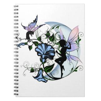 Caderno Fada da sombra da corriola e gato cósmico