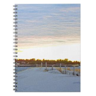 Caderno Farol no por do sol