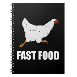 Caderno Fast food Running da galinha