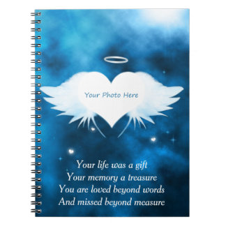 Caderno feito sob encomenda da foto - anjo do