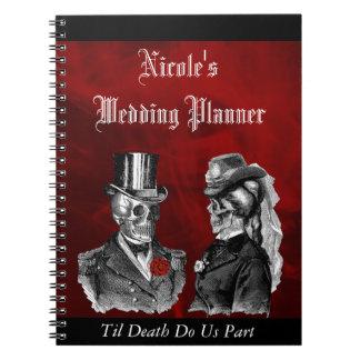 Caderno feito sob encomenda do planejador do